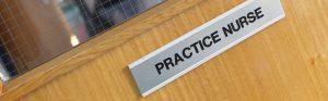 Practice nurse signage